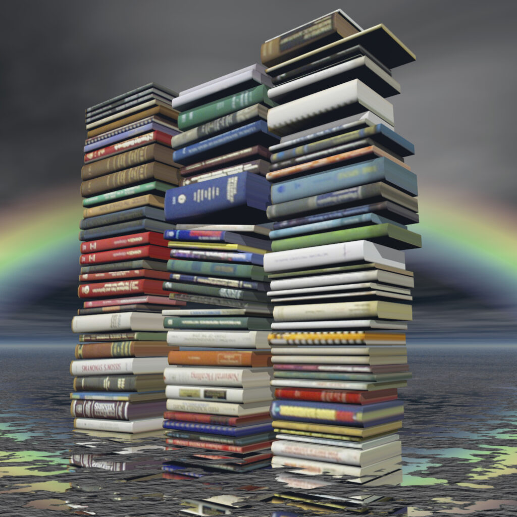 books are great if you are using them, but can be a source of clutter