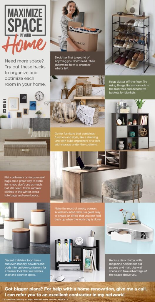 Maximize space in your home to make the most of it