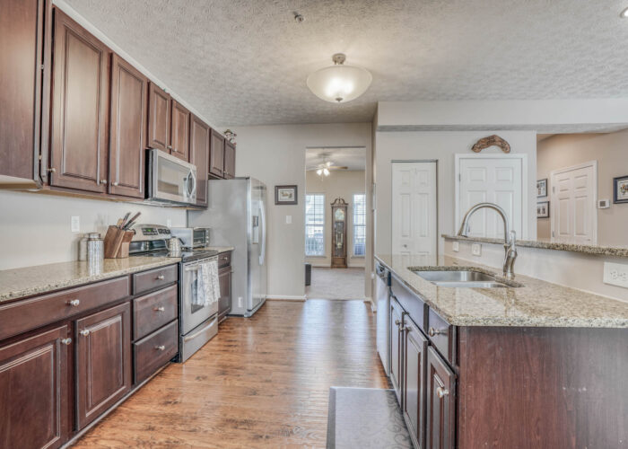 214 Steed Lane, kitchen with granite counters
