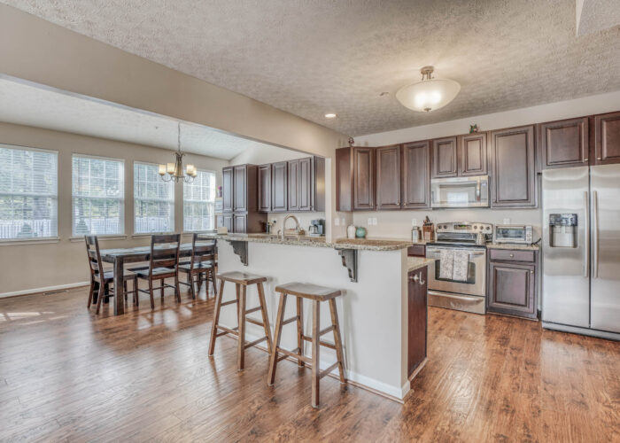 214 Steed Lane, breakfast bar with view of dining room