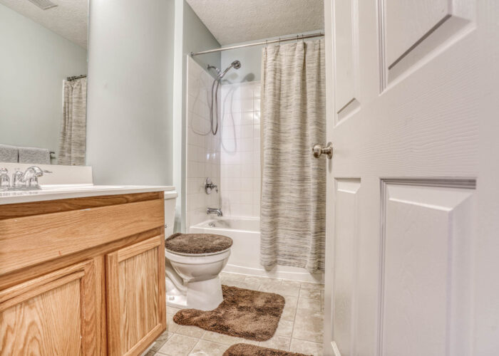 214 Steed Lane, bathroom with tub and shower