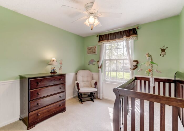 19 Redare Court, third bedroom with ceiling fan