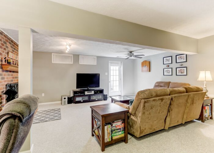 19 Redare Court, lower level with ceiling fan