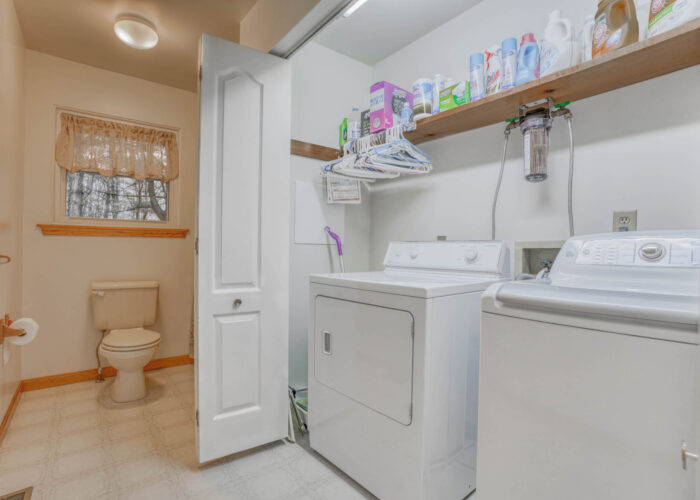 198 Donizetti Ct., washer, dryer and view of bathroom