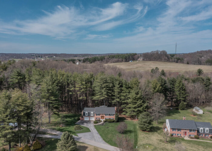 198 Donizetti Ct., drone view from the front of the house