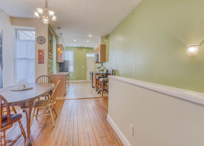 3301 E Baltimore St, dining room with windows
