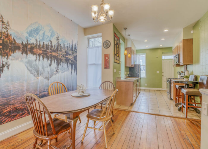 3301 E Baltimore St, dining room and kitchen
