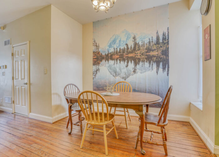 3301 E Baltimore St, dining room with door to basement