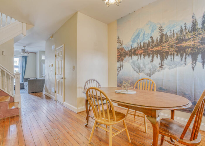 3301 E Baltimore St, dining room with hardwood floors
