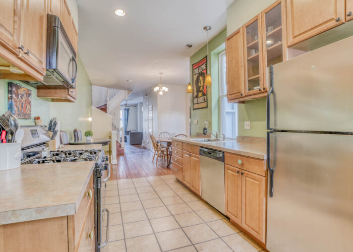 3301 E Baltimore St, kitchen with stainless appliances