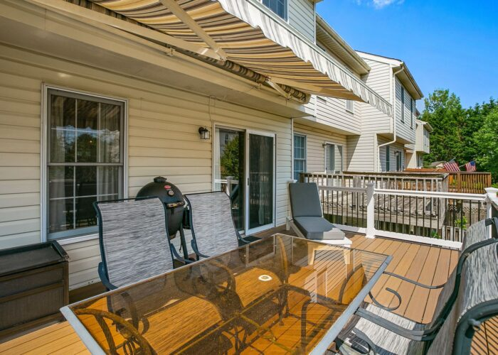 47 Cedarcone Court, deck with awning