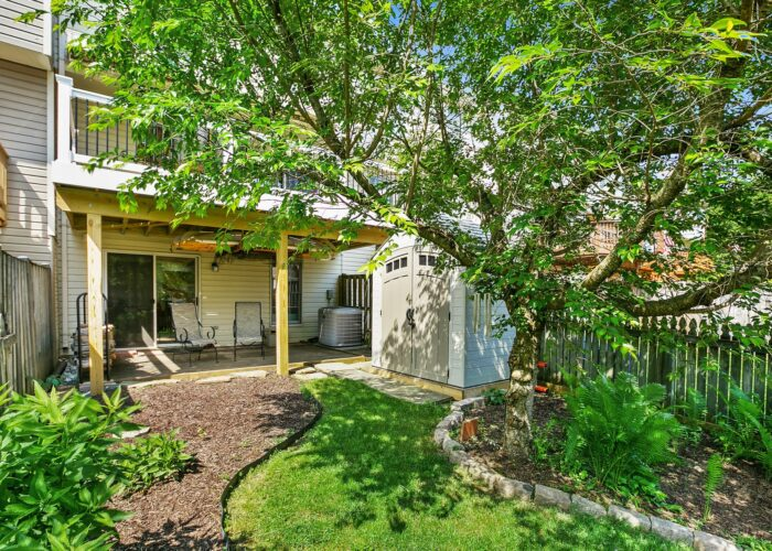 47 Cedarcone Court, fenced and landscaped back yard