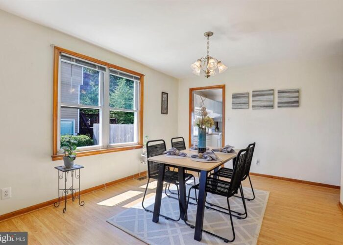 7312 Bay Front Road, dining room with windows