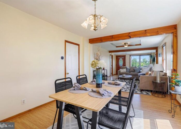 7312 Bay Front Road, dining room and living room