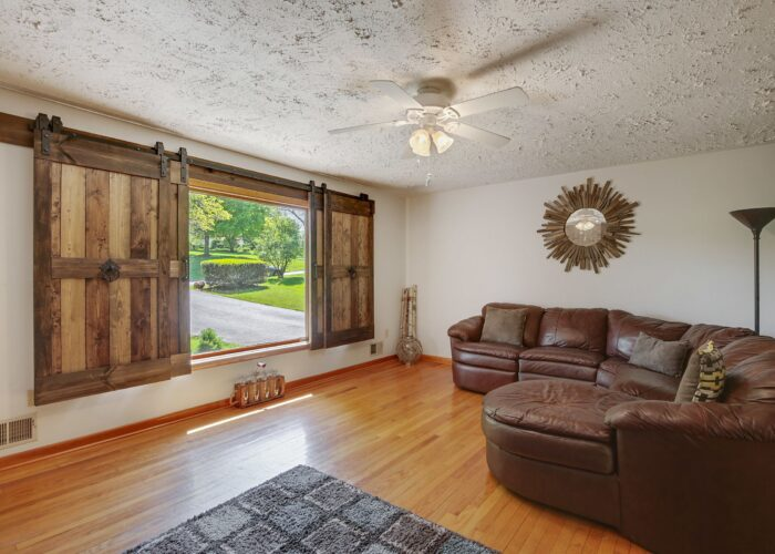808 Gary Drive, living room with window treatments open