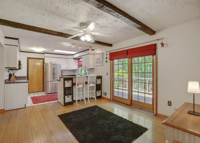 808 Gary Drive, dining room with free doors leading to deck