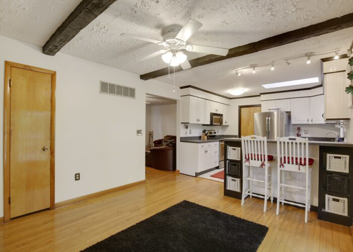 808 Gary Drive, dining room with view of breakfast bar