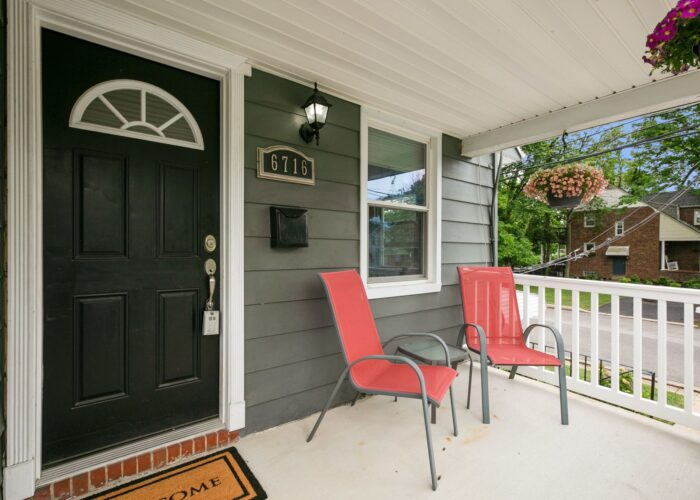 6716 Old Harford Road, front porch