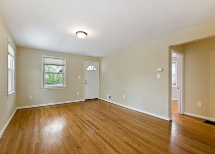 6716 Old Harford Road, entryway and living room