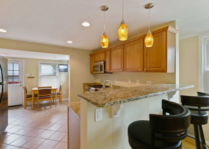 6716 Old Harford Road, breakfast bar and kitchen
