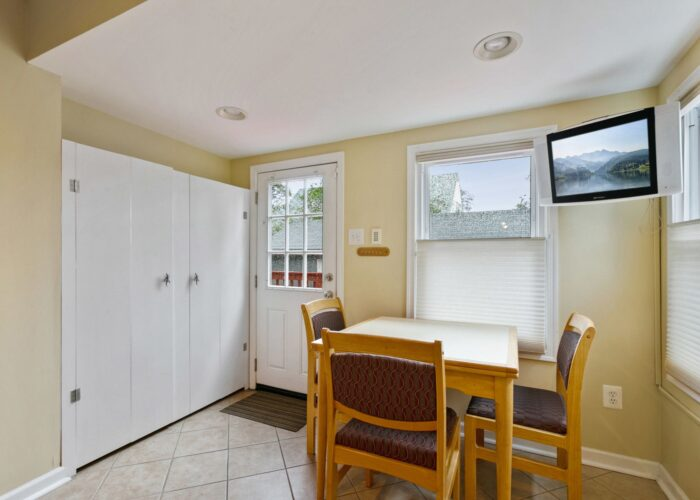 6716 Old Harford Road, dining area and back door