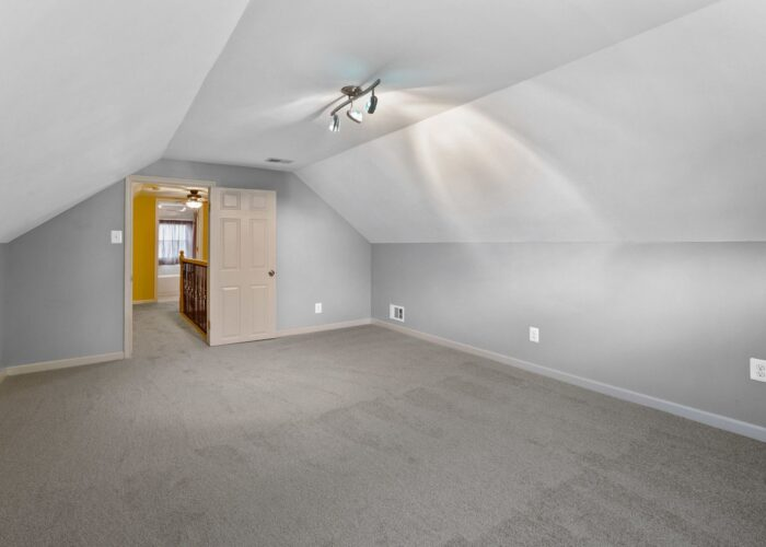 6716 Old Harford Road, large bedroom with track lighting