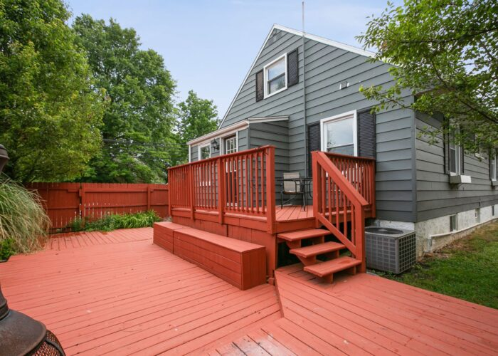 6716 Old Harford Road, deck in back yard with privacy fence