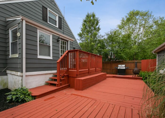 6716 Old Harford Road, private back yard great for social activities
