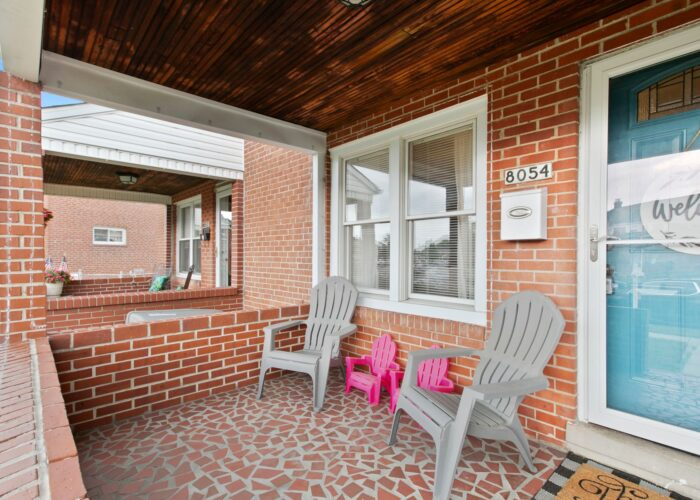 8054 Wallace Road, covered front porch