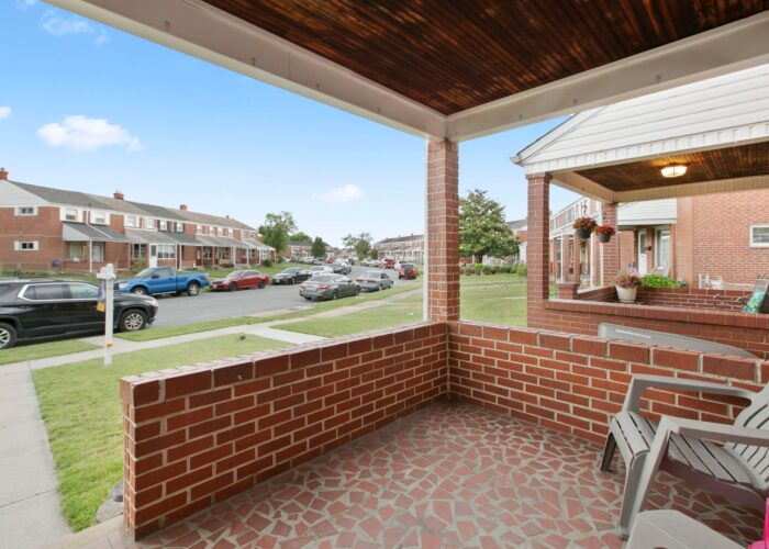 8054 Wallace Road, front porch