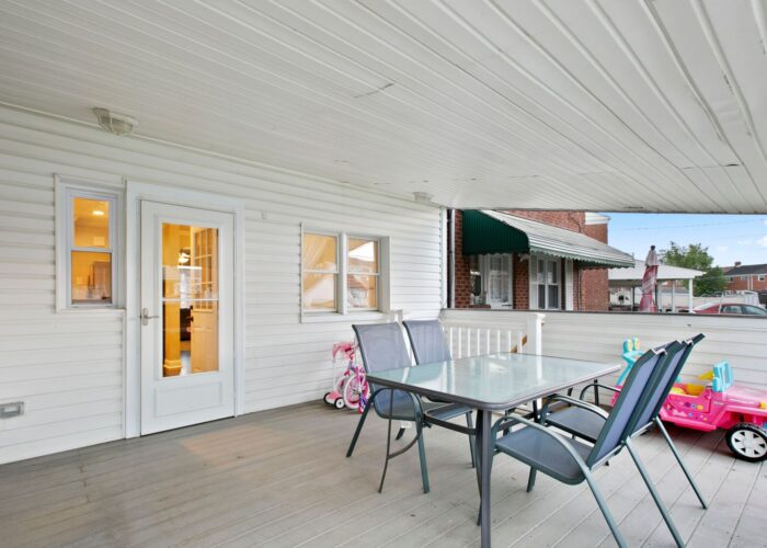 8054 Wallace Road, covered deck off of kitchen
