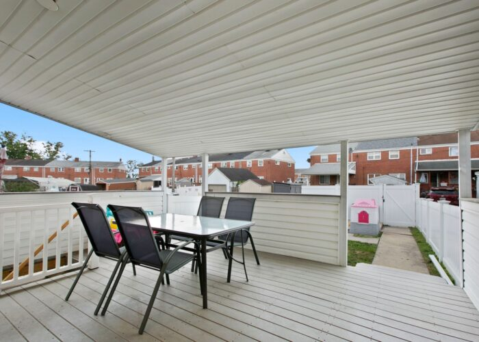 8054 Wallace Road, covered deck