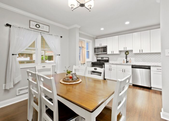 8054 Wallace Road, dining room overlooking kitchen