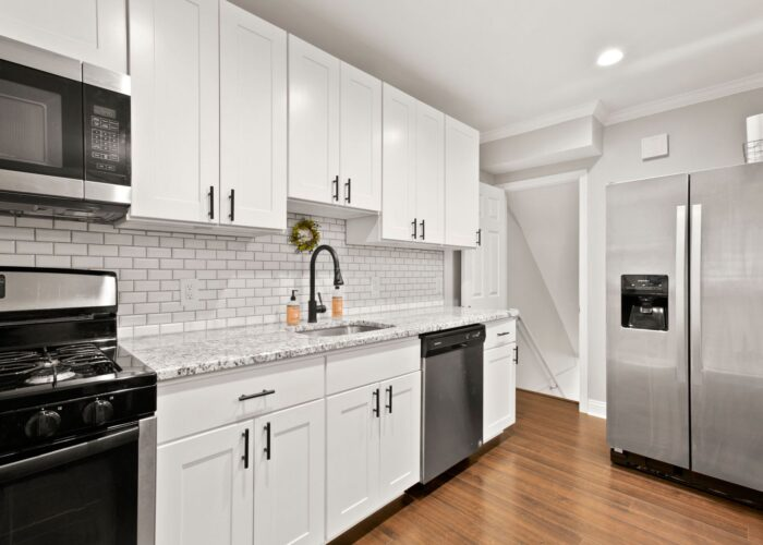 8054 Wallace Road, kitchen with stainless appliances