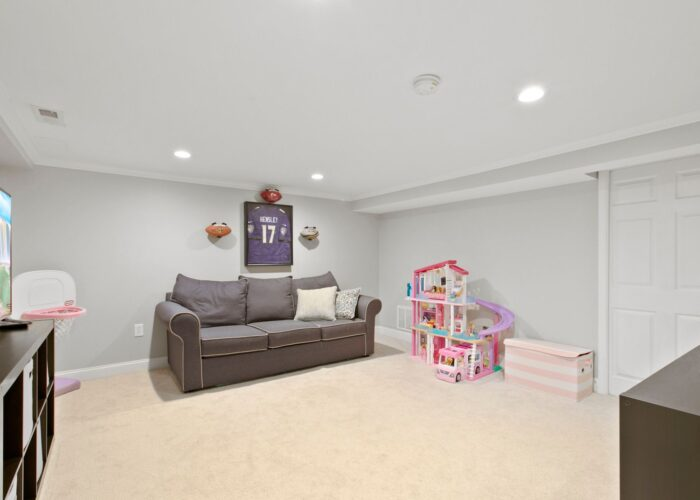 8054 Wallace Road, lower level family room