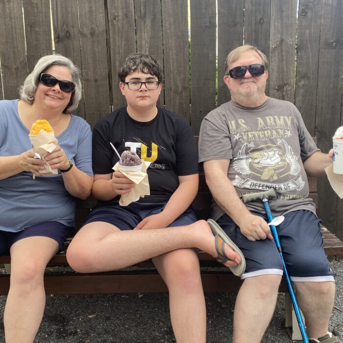 Kona Ice Event, kids of all ages love snowballs