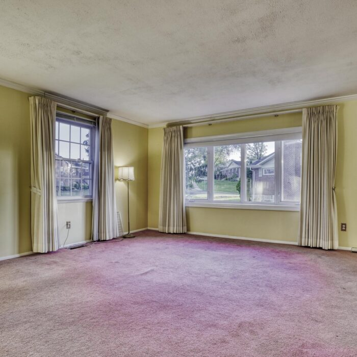 2502 Lampost Lane, living room with pink carpet
