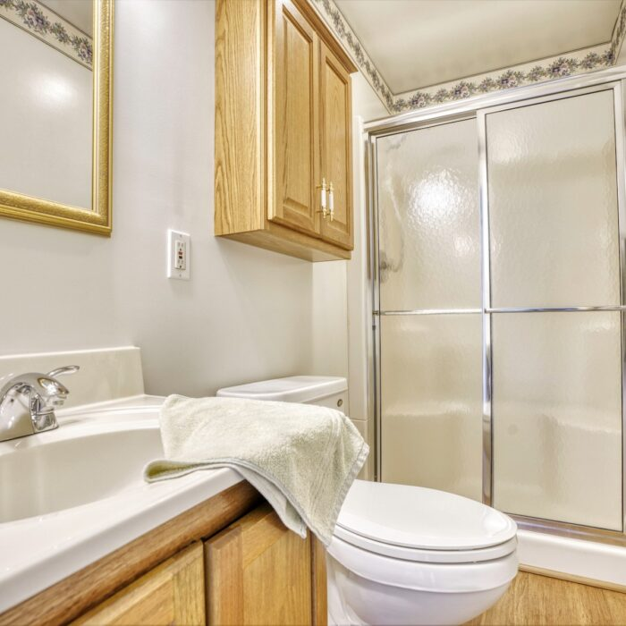 2803 Page Drive, shower with sliding door