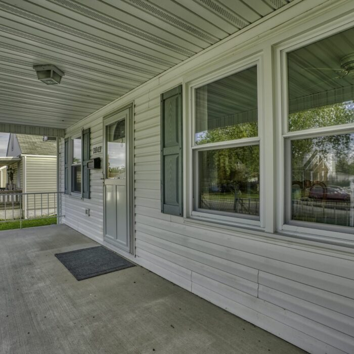 2803 Page Drive, front porch