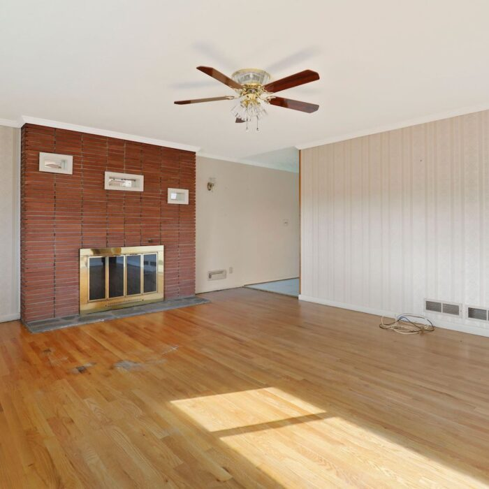 4200 Necker Avenue, living room with woodburning stove