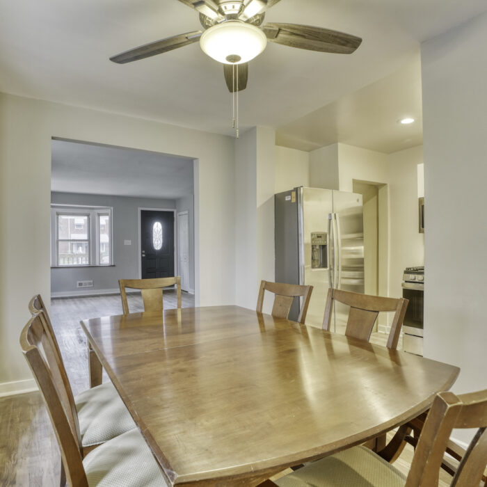 627 Dunwich Way, dining room with ceiling fan